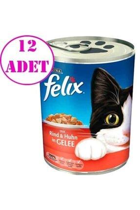 FELIX Sığır Etli Kedi Konservesi 400 Gr 12 Li Set