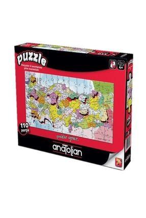 Anatolıan Puzzle Anatolian 110 Parça Türkiye Haritası Iller