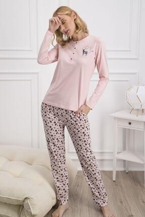Pierre Cardin Kadın Somon Rengi Pijama Takımı