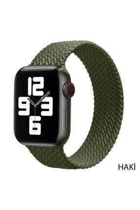Techmaster Apple Watch Haki 1 2 3 4 5 6 42mm 44mm Solo Loop Tme Kordon Large