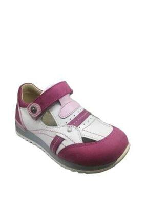 Ortopedia Ortopedik Kız Çocuk Ayakkabı Fuşya Deri Beyaz Deri 0216