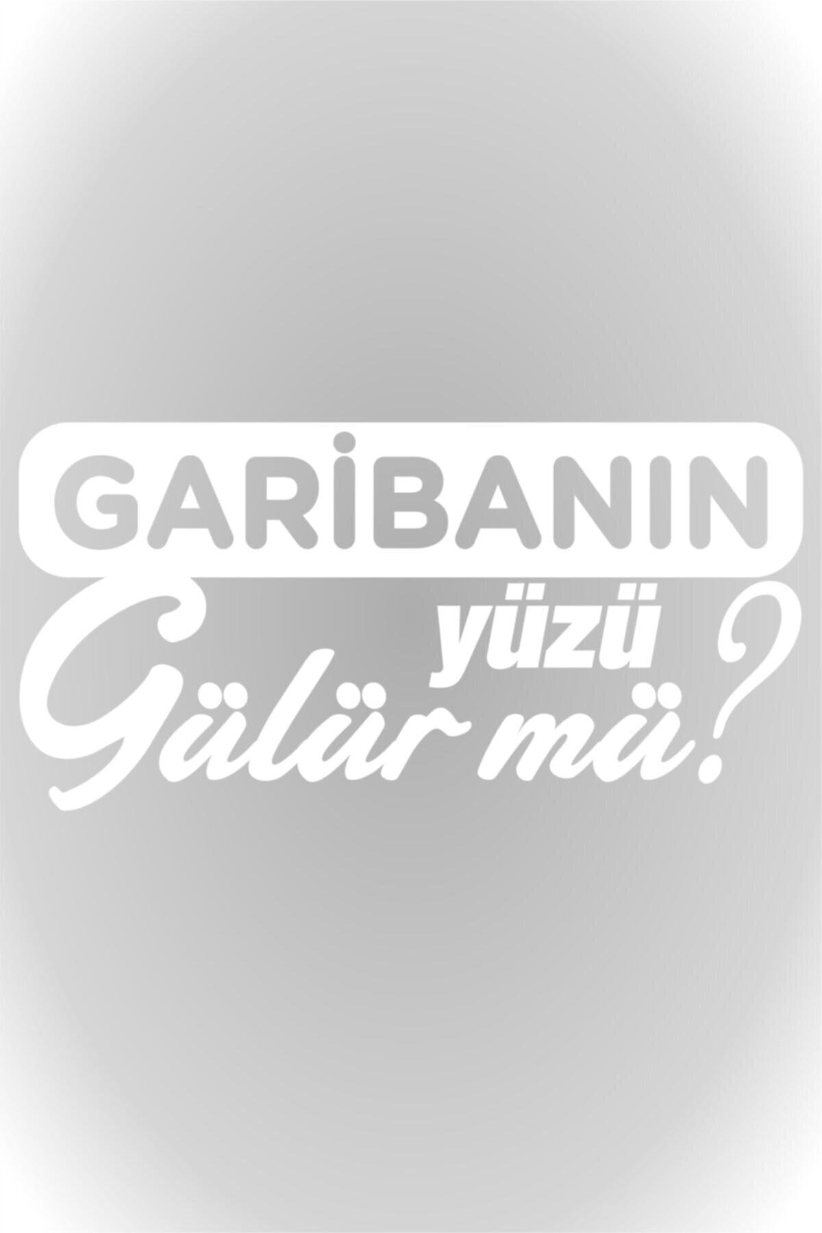 Quart Aksesuar Garibanın Yüzü Gülür Mü Oto Sticker Araba Cam Sticker Beyaz 20 X 10 Cm 1