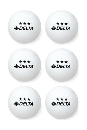 Delta 3 Yıldız Beyaz Masa Tenisi Pinpon Topu 6 Adet