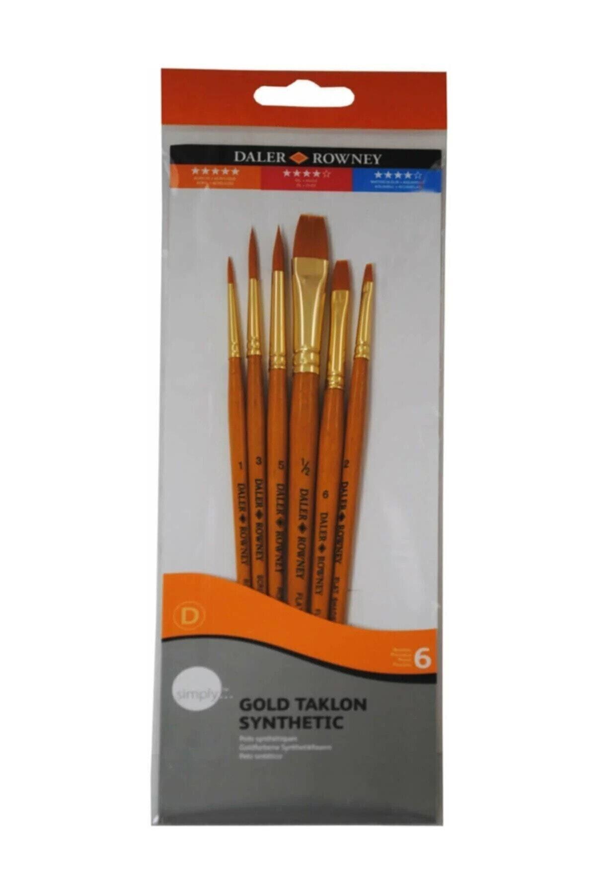 Daler Rowney Gold Taklon Synthetic Fırça Seti 7'li 1