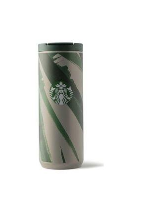 Starbucks ® Klasik Seri Termos - Gri-yeşil Renkli 473 Ml