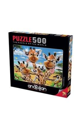 Anatolian Puzzle Zürafa Selfisi Puzzle Yapboz 500 Parça