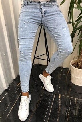 Terapi Men Erkek Slim Fit Jean Kot Pantolon 20y-2100429-02 Mavi