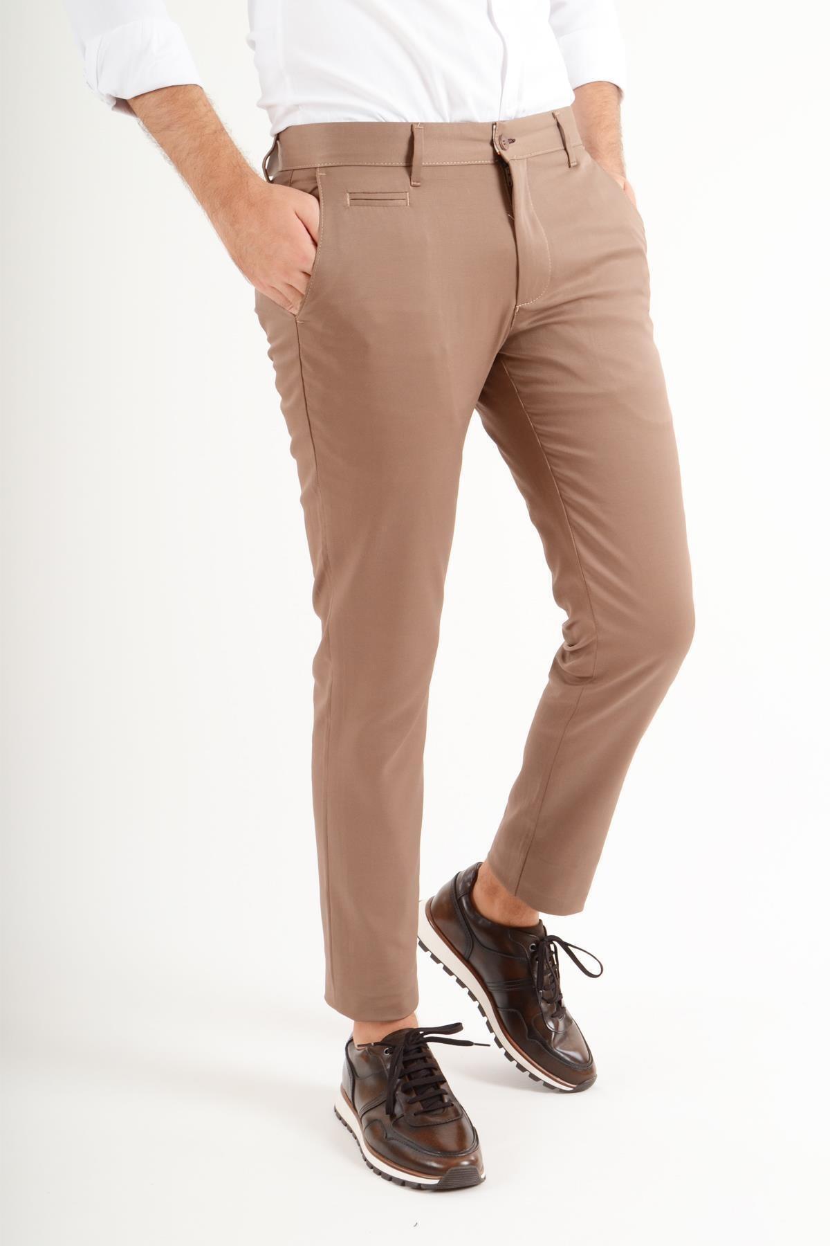 Luppo Club Günlük Kumaş Sütlü Kahve Erkek Pantolon Salacak 1