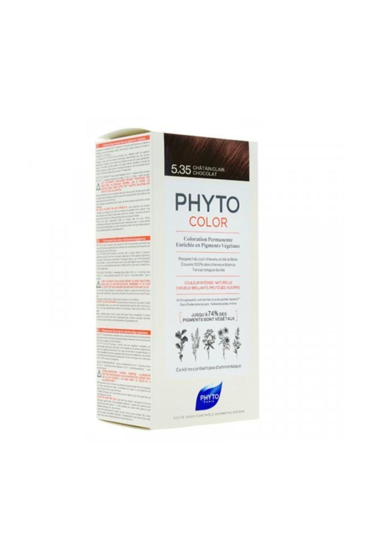 Phyto Color 5.35 - Açık Kestane Dore Akaju (Bitkisel Saç Boyası) - 1