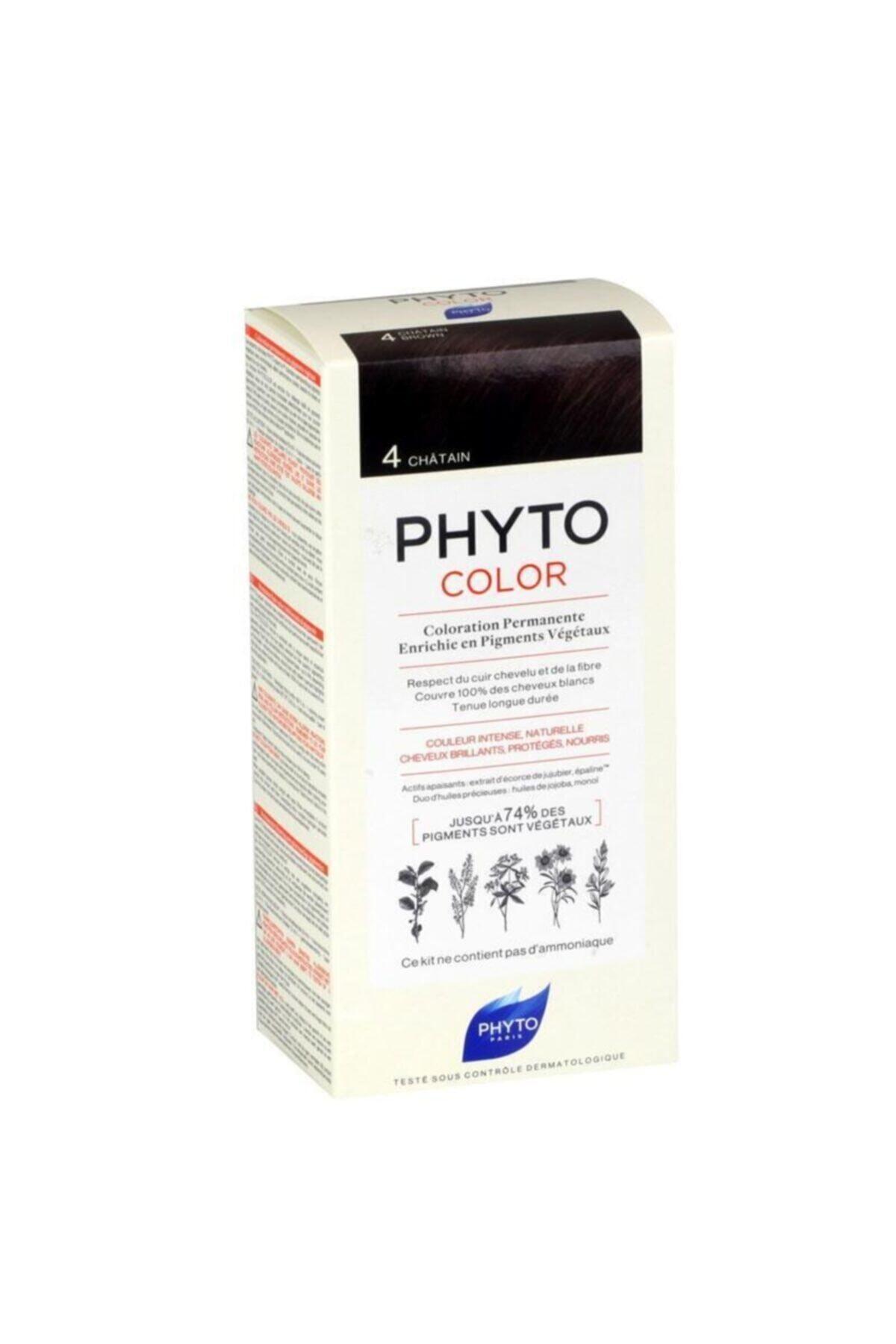 Phyto Color 4 - Kestane (Bitkisel Saç Boyası) - 1