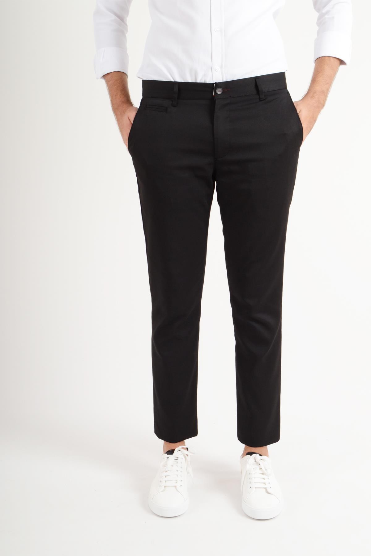 Luppo Club Günlük Kumaş Siyah Erkek Pantolon Salacak 1