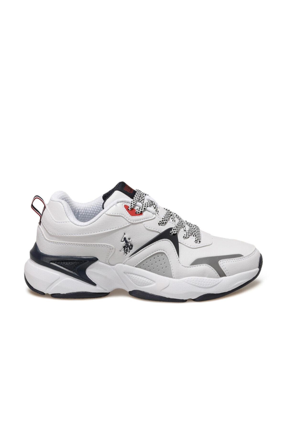 U.S. Polo Assn. JIMMY Beyaz Erkek Sneaker Ayakkabı 100536421 2