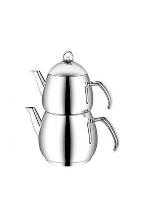 Aryıldız Metalik Alanya Metal Saplı Mini Çaydanlık Takımı