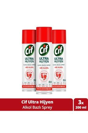Cif Ultra Hijyen Alkol Bazlı Sprey 200 ml X3