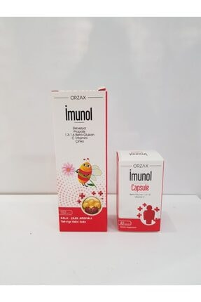 Orzax Imunol Şurup 150 Ml+imunol 40 Kapsül Şifadepocum Sınav Seti