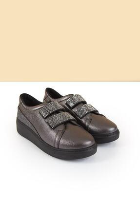 Pierre Cardin Kadın Günlük Streç Ayakkabı Platin Gri