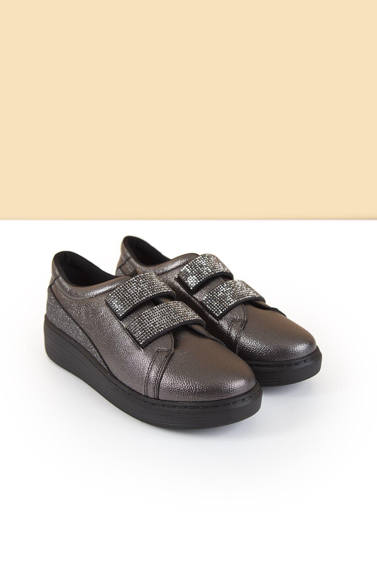 Pierre Cardin Kadın Günlük Streç Ayakkabı Platin Gri 1