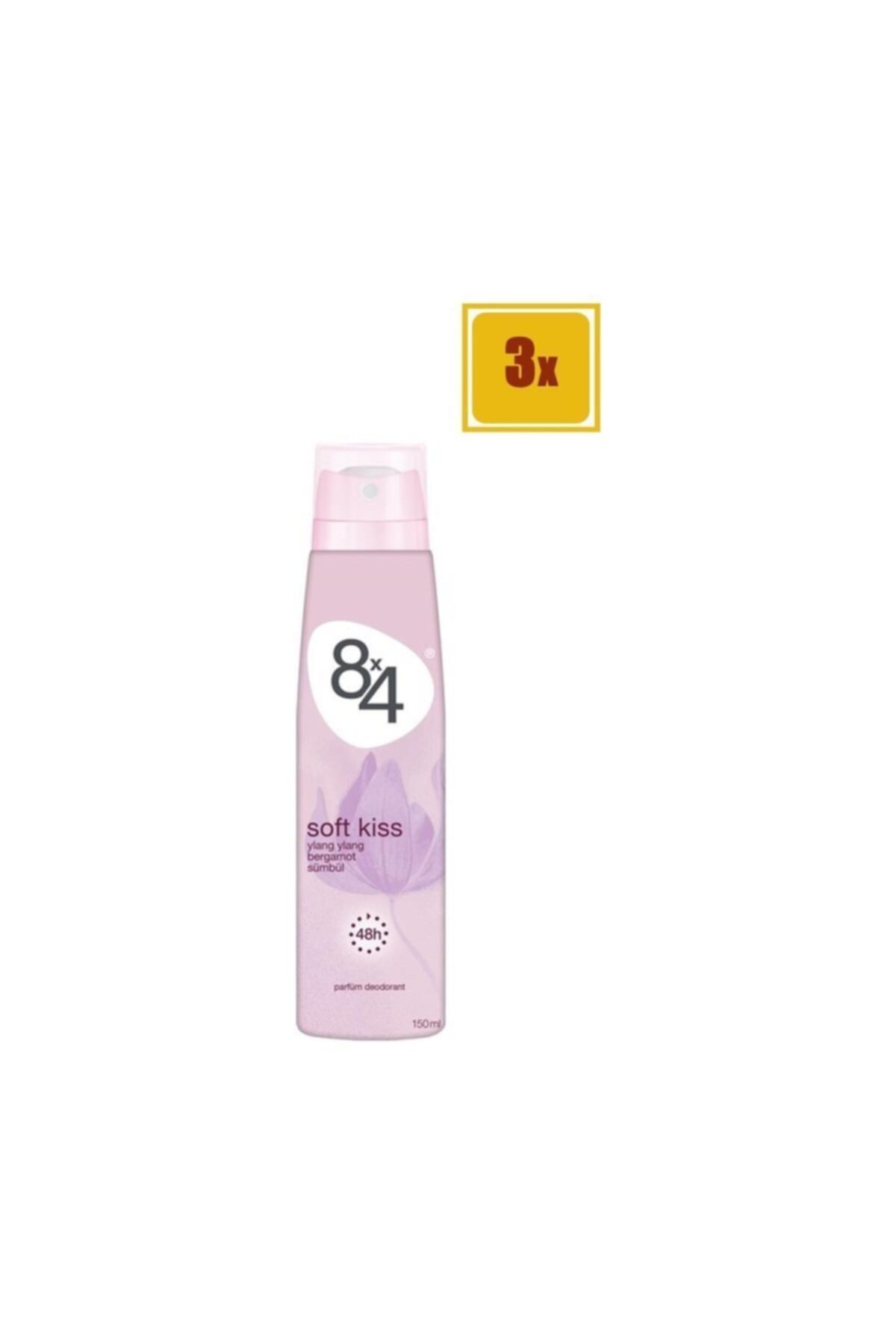 8x4 Soft Kiss Sprey Deodorant 150 Ml X 3 Adet 1