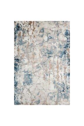 Bahariye Halı Bej Mavi Craft Modern Halı 9135