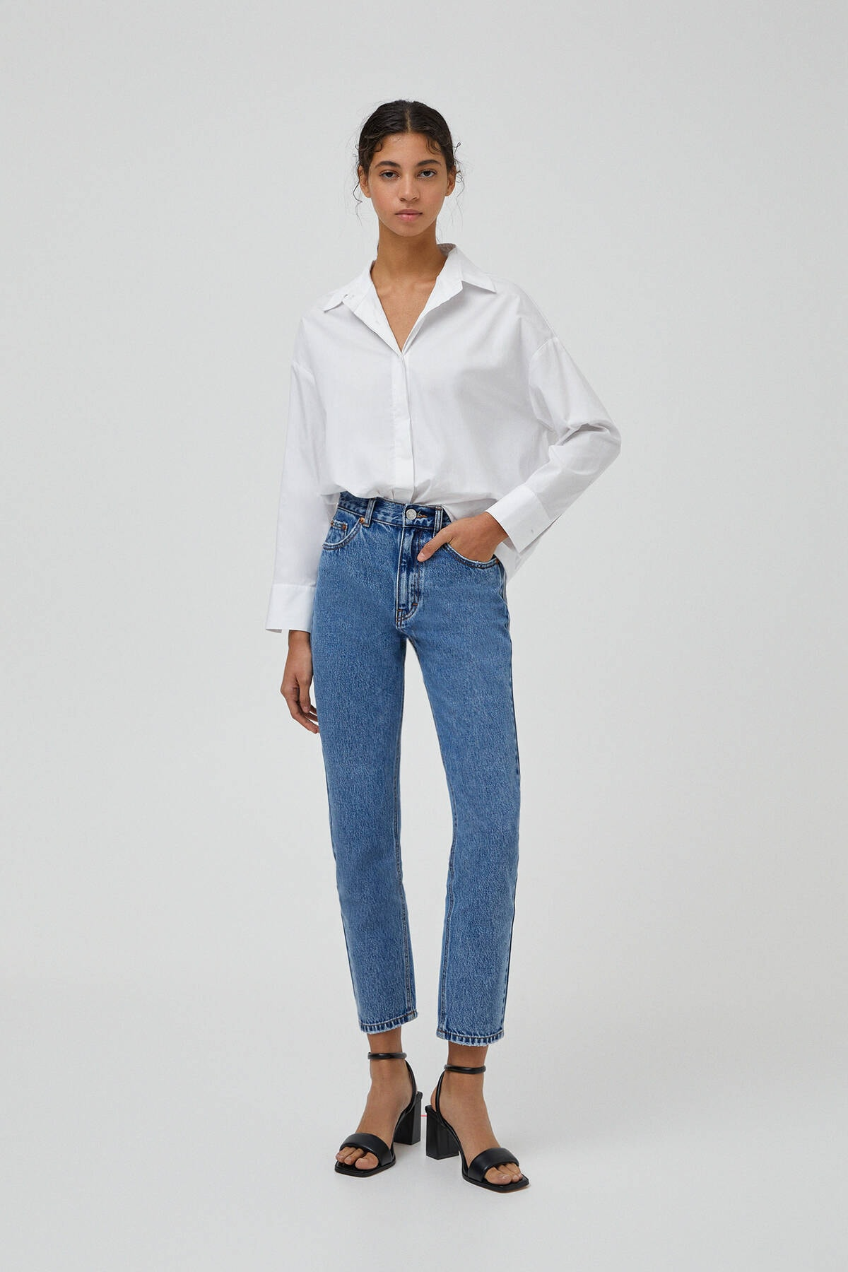 Pull & Bear Mom Fit Basic Jean 1