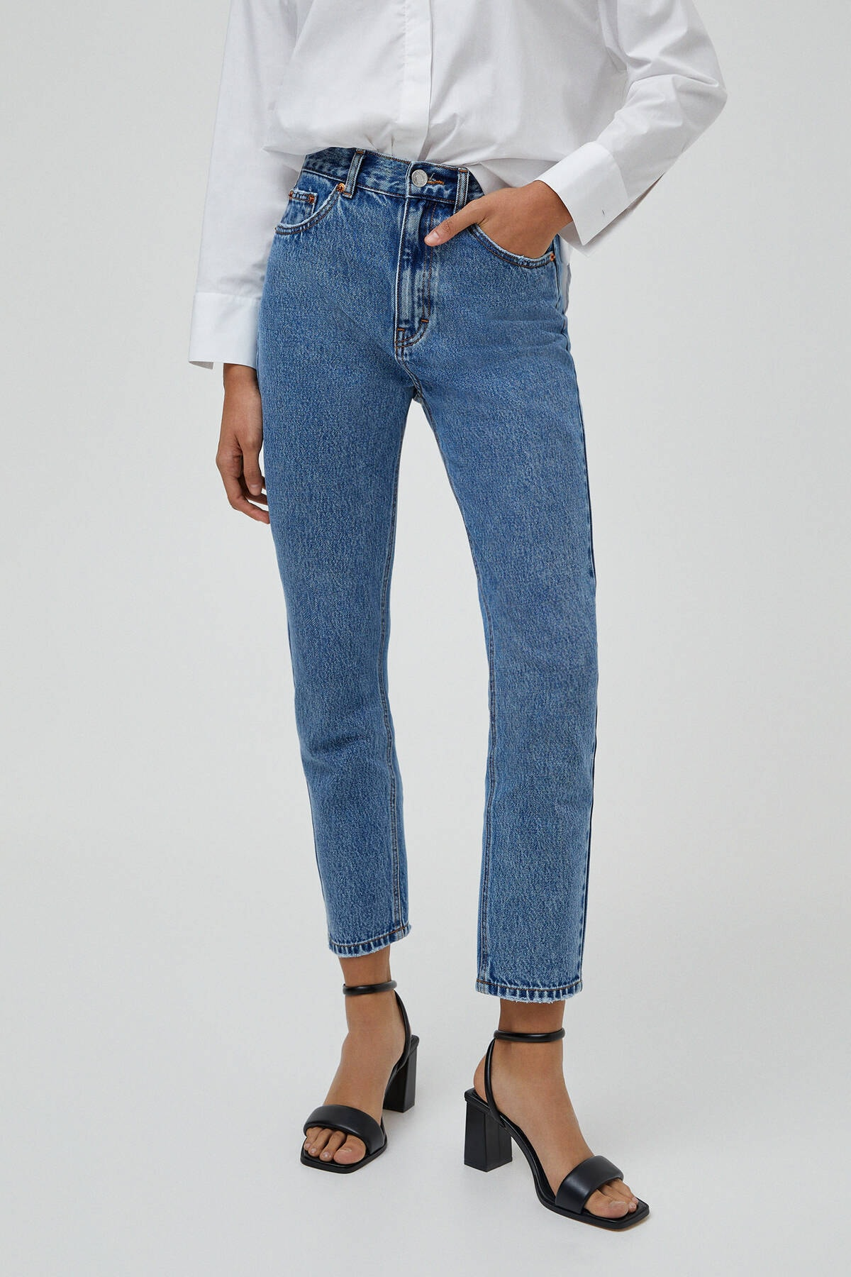 Pull & Bear Mom Fit Basic Jean 2