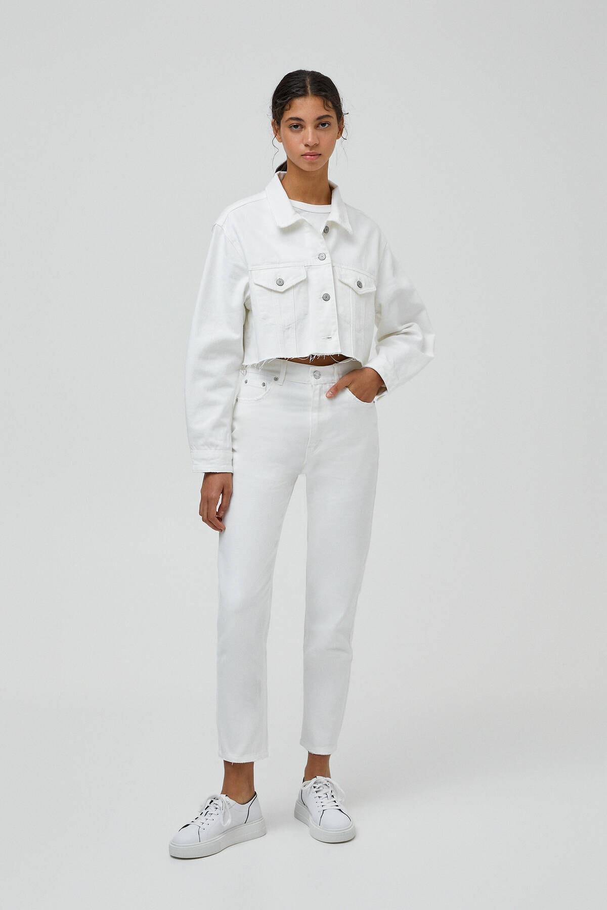 Pull & Bear Kadın Mom Fit Basic Jean 1