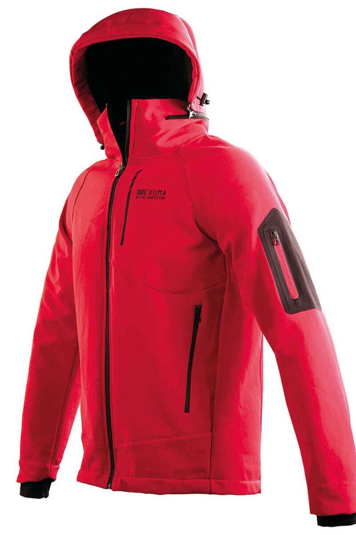 Exuma Erkek Kırmızı Kapüşonlu Kayak Montu 1