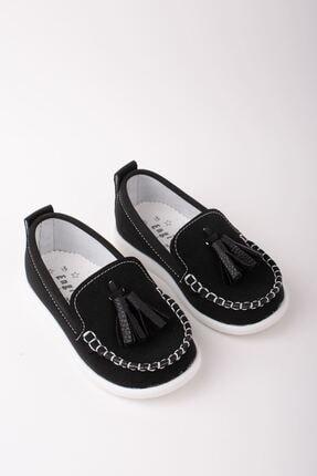 Aymeravm Erkek Bebek Siyah Püsküllü Ayakkabı