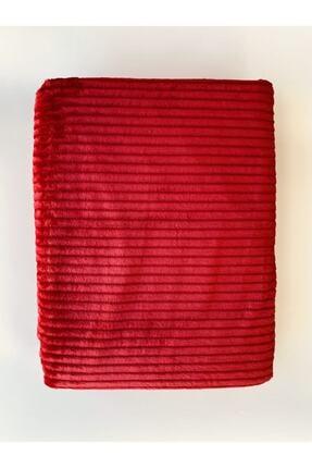 Merinos Colorway Cift Kisilik Battaniye Fitilli Kırmızı