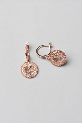 So CHIC... Sevgililer Günü Koleksiyonu 18k Rose Altın Kaplama Kalp Küpe