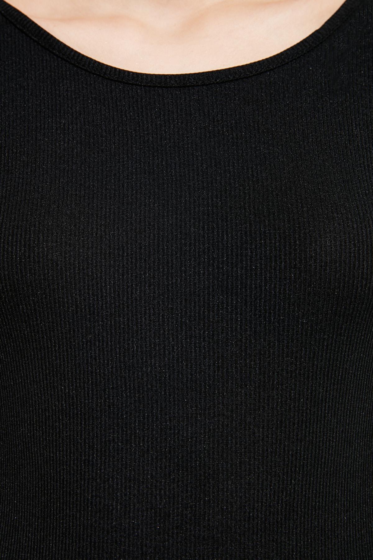 TRENDYOLMİLLA Siyah Sırt Dekolteli Örme Body TWOAW21BD0090 2