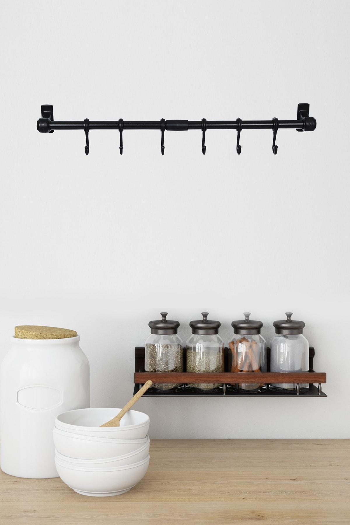 hobyflex Metal Ergonomik Siyah Mutfak Ve Banyo Askısı 1
