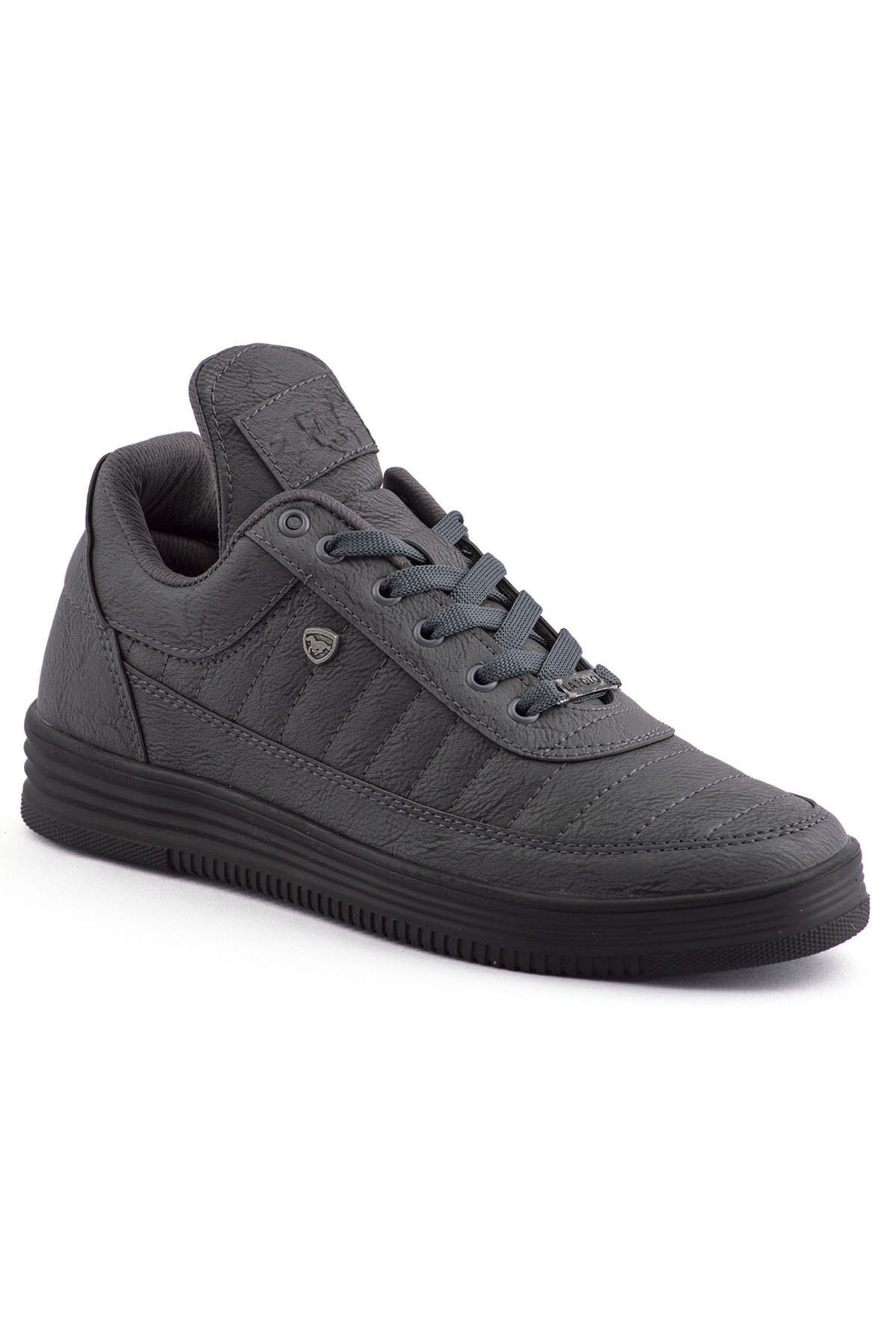 L.A Polo 07 Füme Siyah Dikişli Taban Unisex Spor Ayakkabı 1