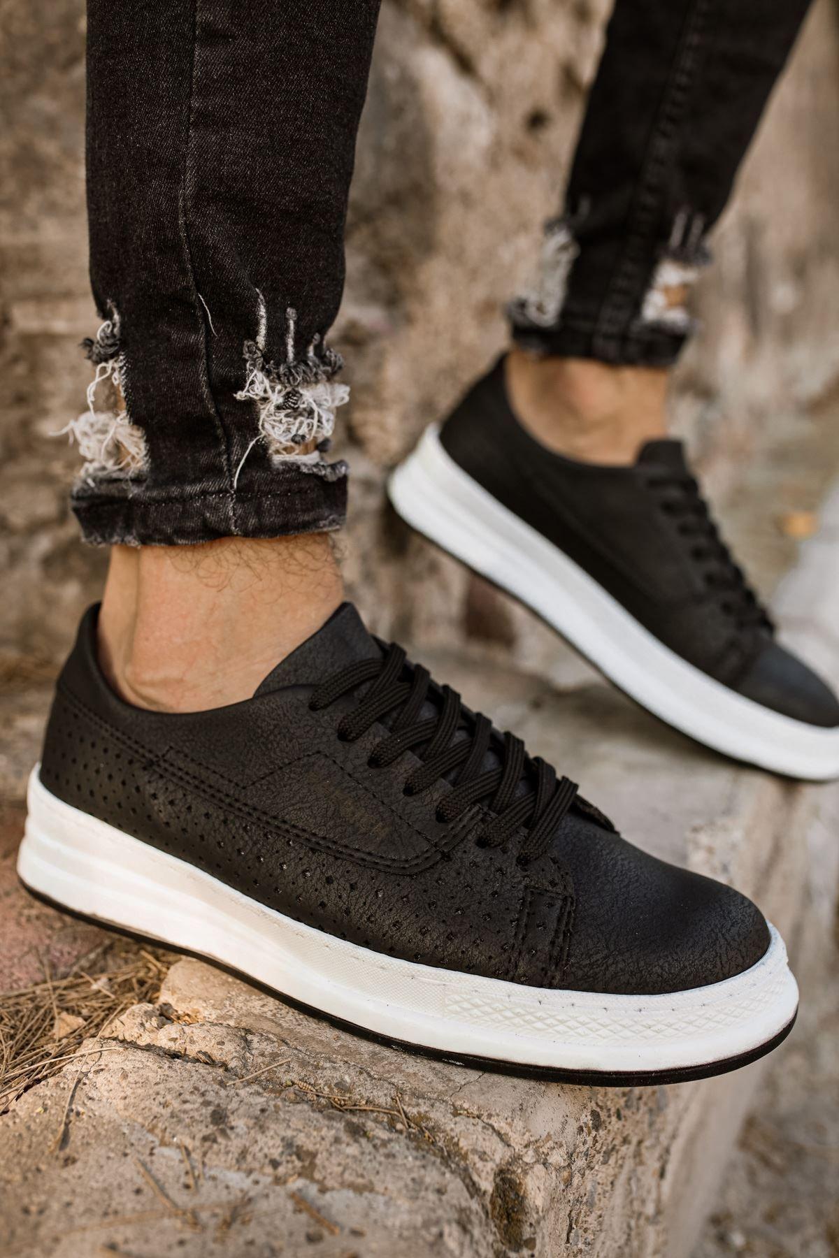 Chekich Erkek Siyah Beyaz Spor Ayakkabı Ch043 1