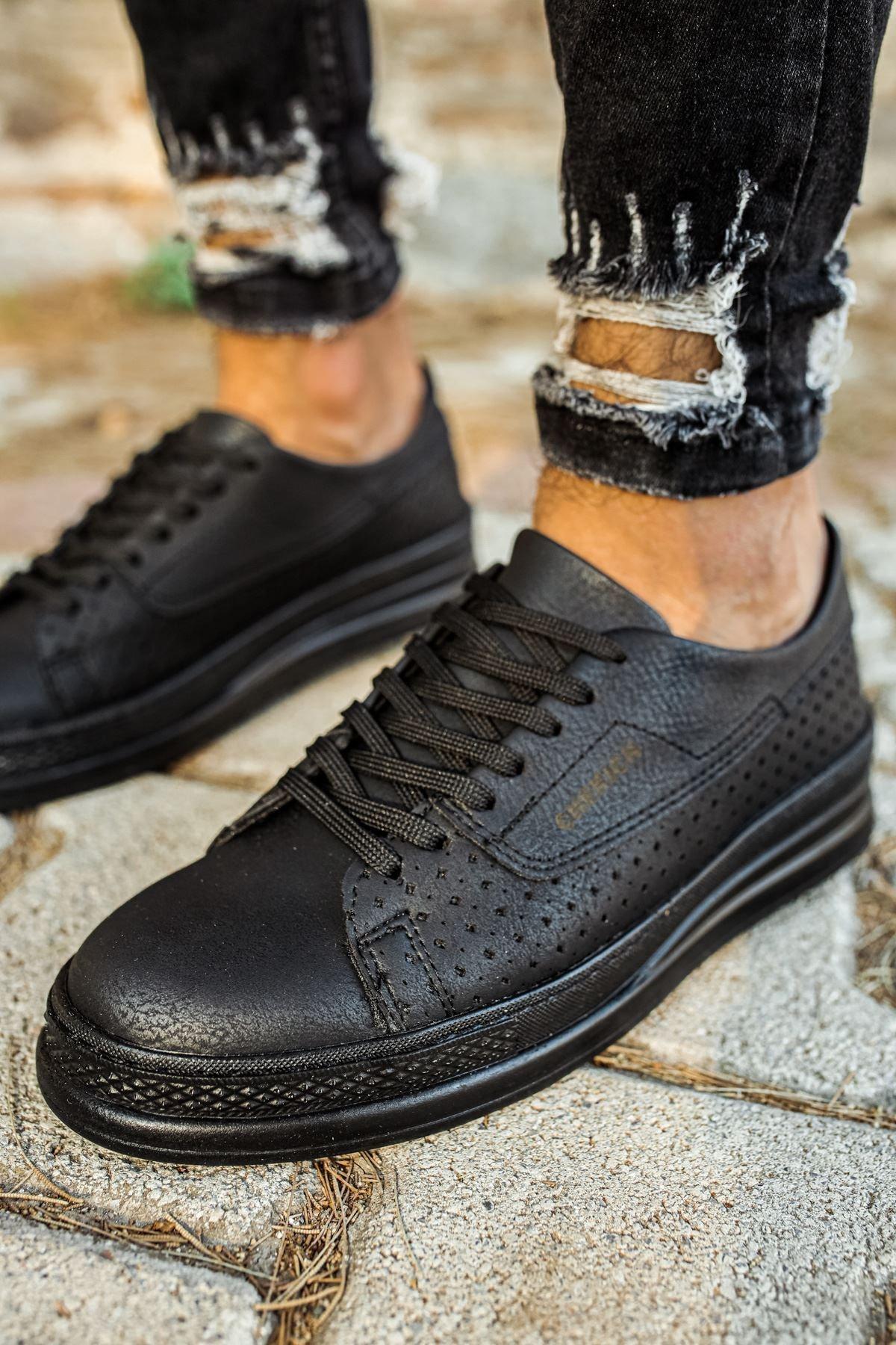 Chekich Siyah Erkek Spor Ayakkabı CH043 1