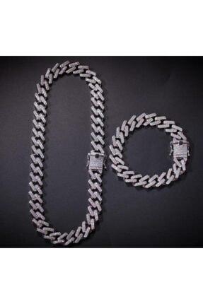 34528 Chain Silver Prong Chain Seti