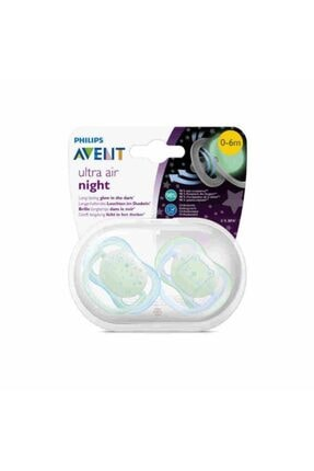 Philips Avent Avent Ultra Air Night Emzik 2'li Mavi 0-6 Ay