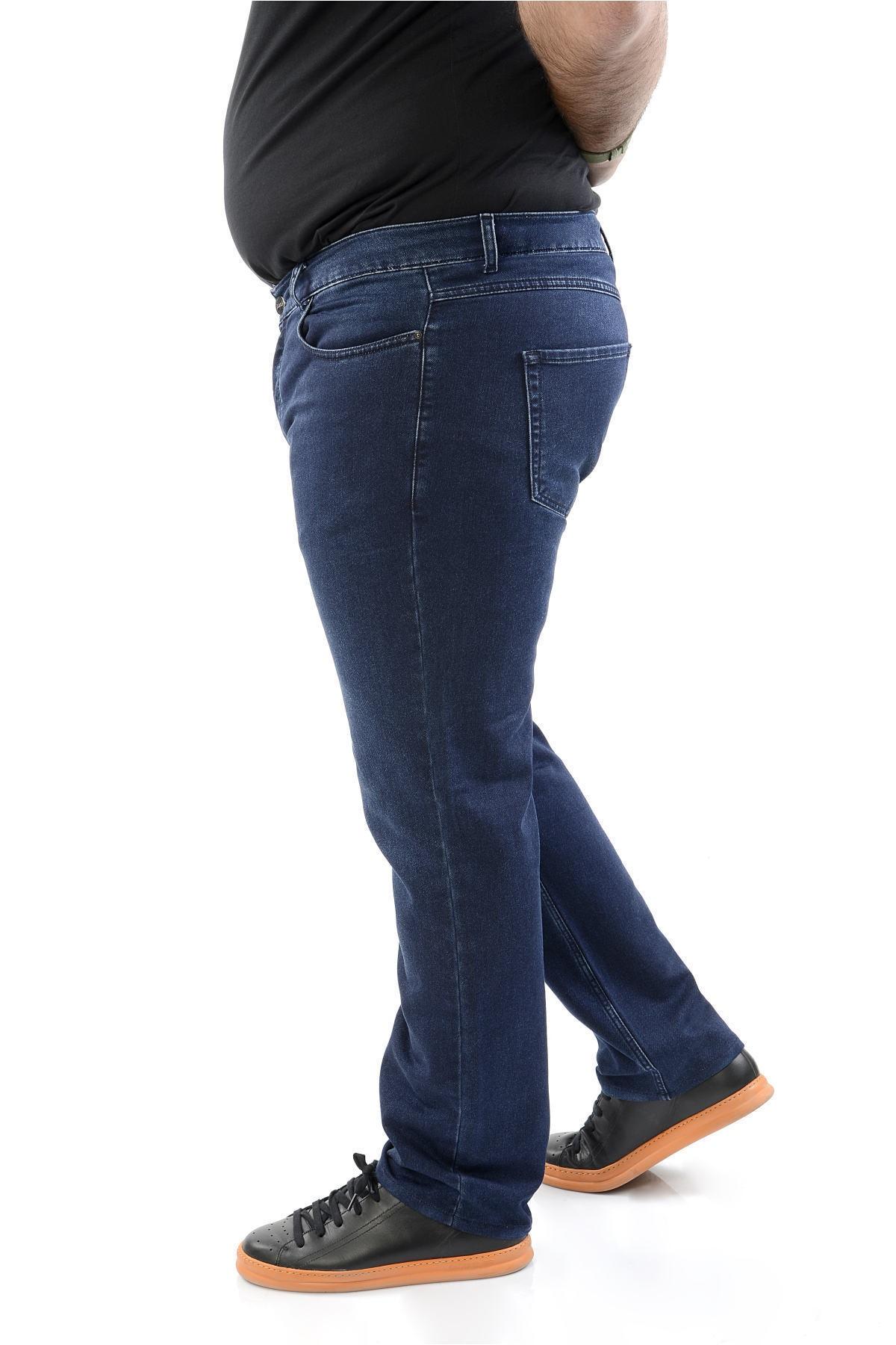 CEDY DENIM Mavi Erkek Kot Pantolon Battal Beden Slim Fit Jean - C4000 2