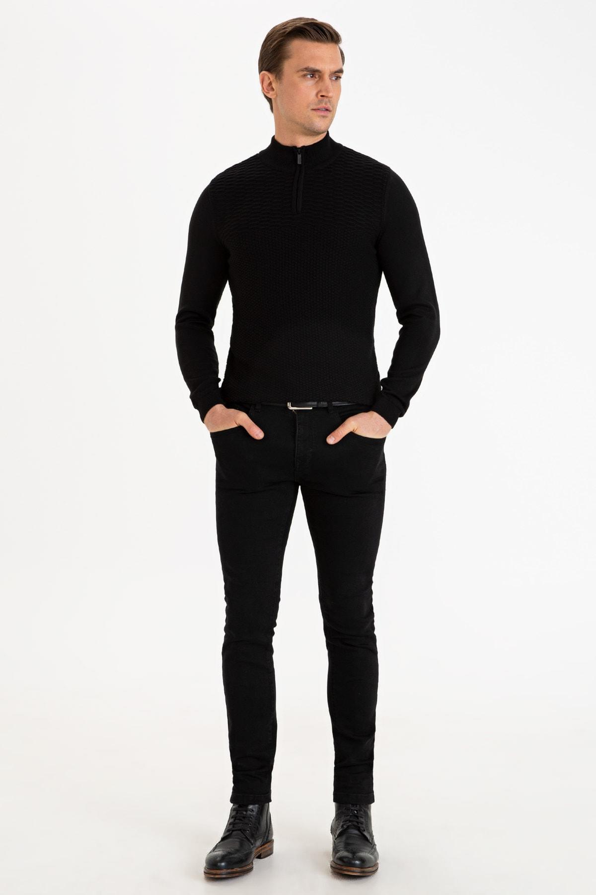 Pierre Cardin Sıyah Erkek Denım Pantolon G021Gl080.000.1115962 1