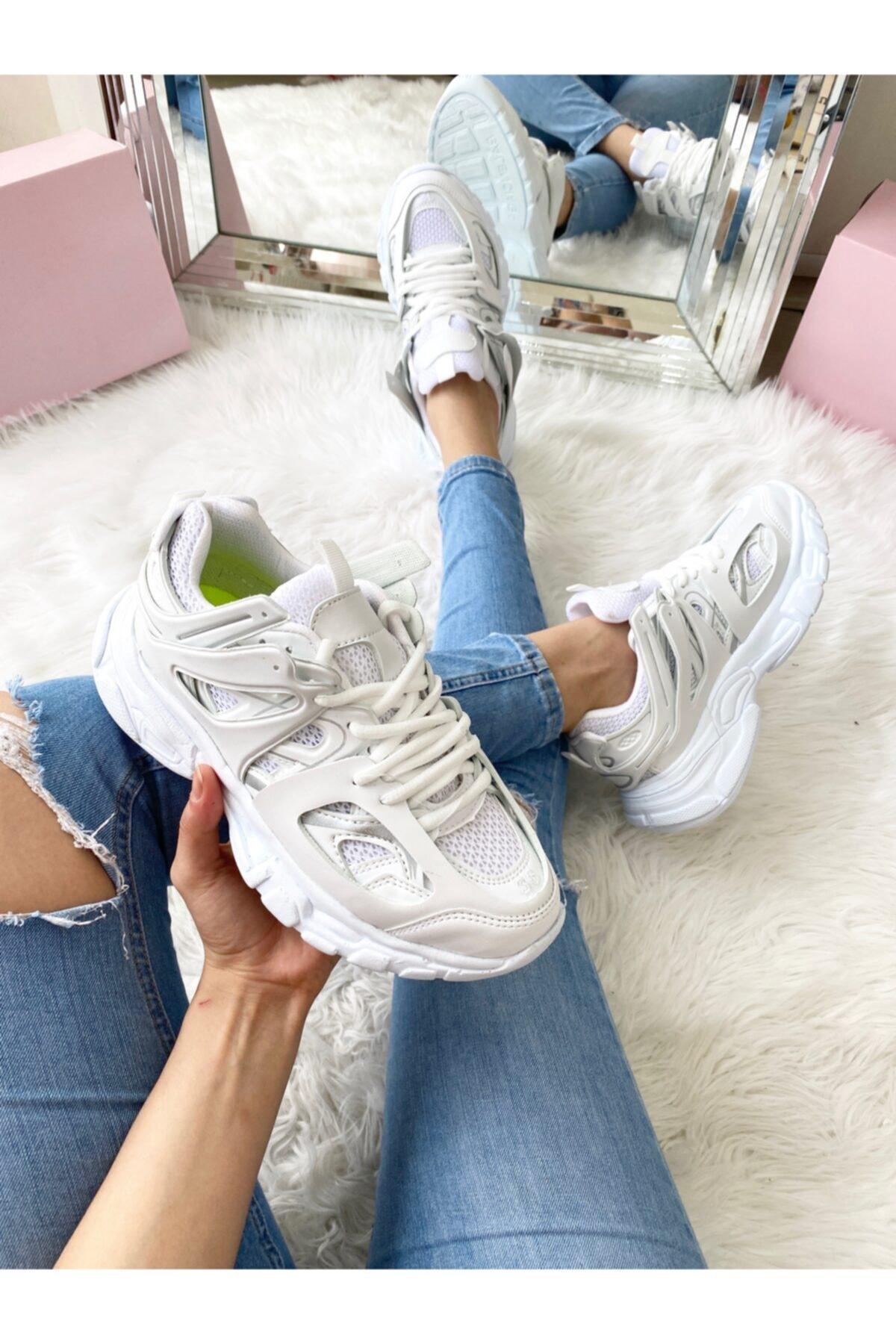 ELSESHOES Unısex Beyaz Sneaker 1