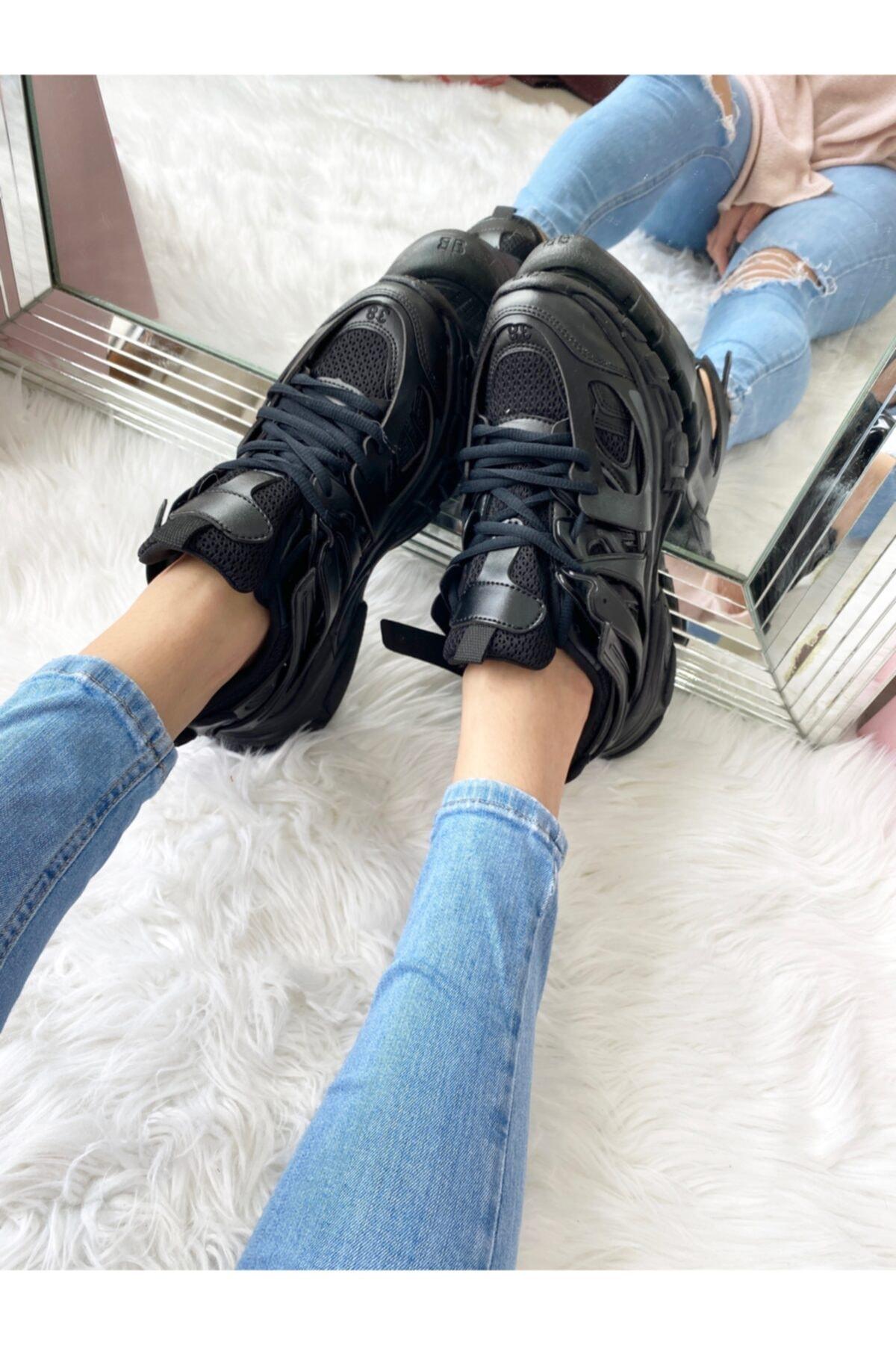 ELSESHOES Unısex Sıyah Sneaker 2
