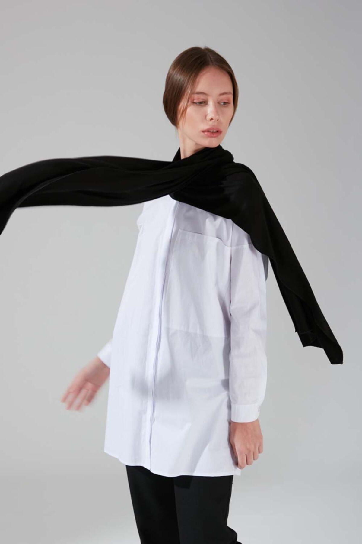 Mizalle Penye Şal (Siyah) 2