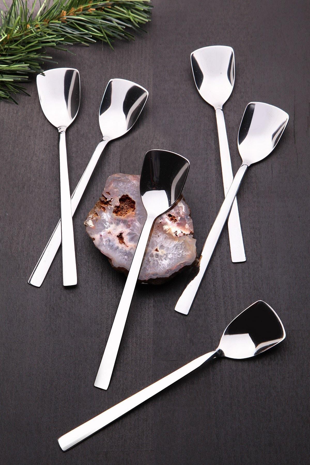 Kitchen Life Paslanmaz Çelik 6'lı Lüx Dondurma Kaşığı 1