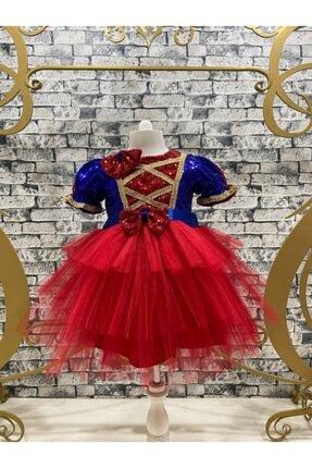 DISNEY Pamuk Prenses Tütü Pul Payet Işlemeli Parti Elbisesi