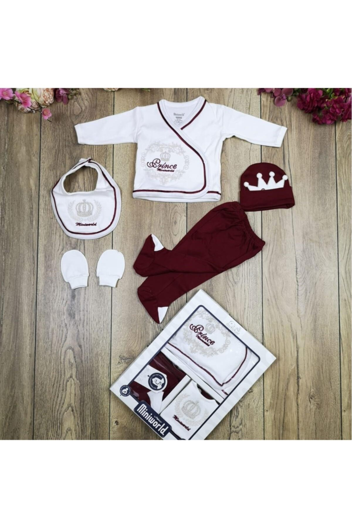 Miniworld Erkek Bebek Lacivert Prens 5'li Hastane Çıkışı 14281 1