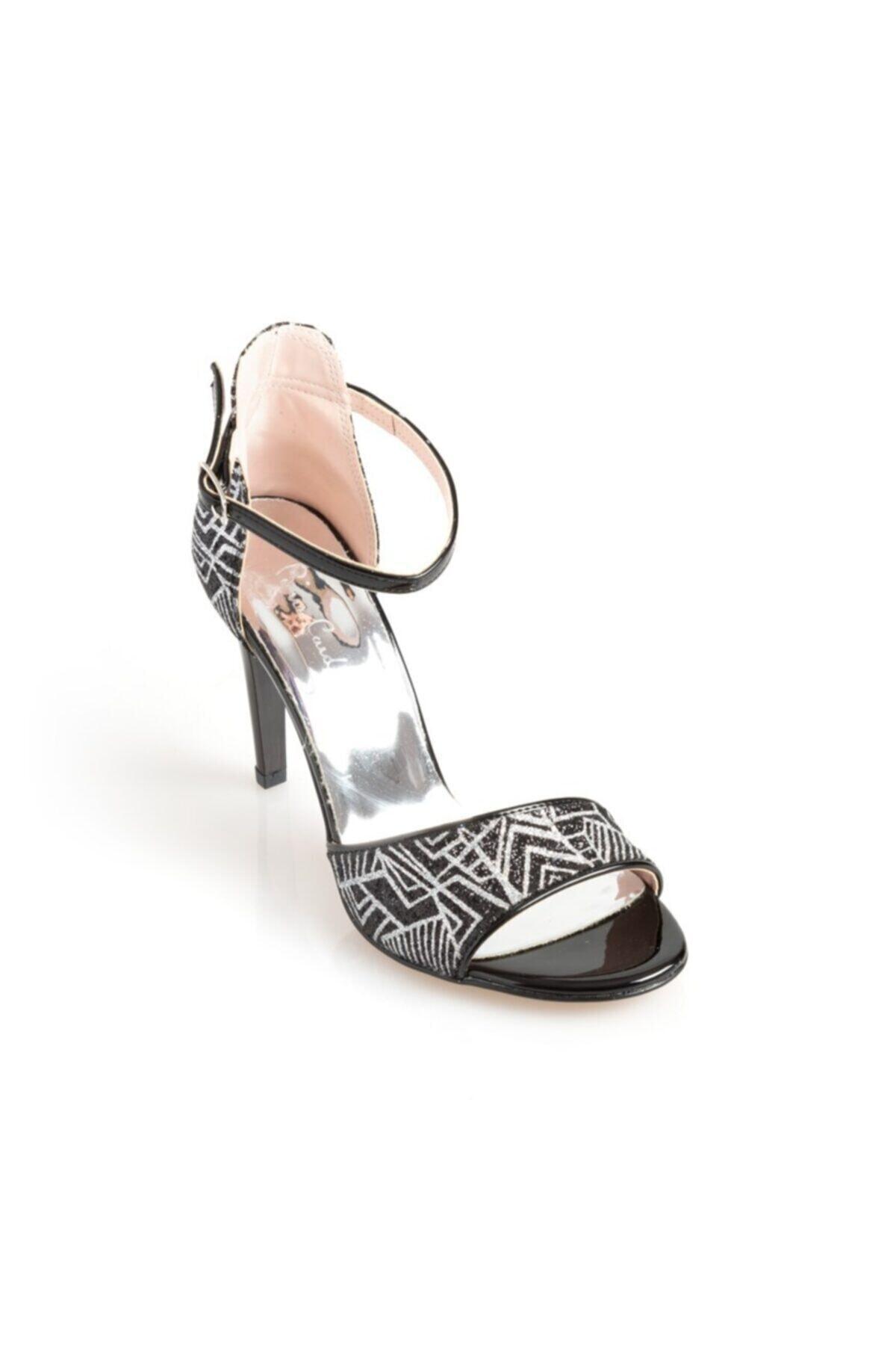 Pierre Cardin Kadın Siyah Topuklu Ayakkabı 54031 2