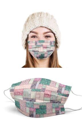 Puumask Maske Wool Patch Desenli Yıkanabilir Yeni Nesil Kumaş Telli Bez