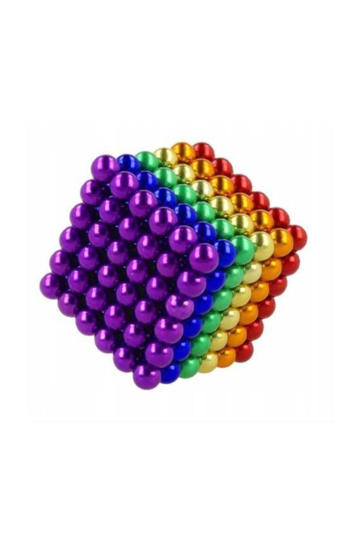 HEPBİMODA 6 Renkli 5mm 216 Adet Neocube Neodyum Mıknatıs Küp Sihirli Manyetik Toplar Mıknatıslı Misket 2