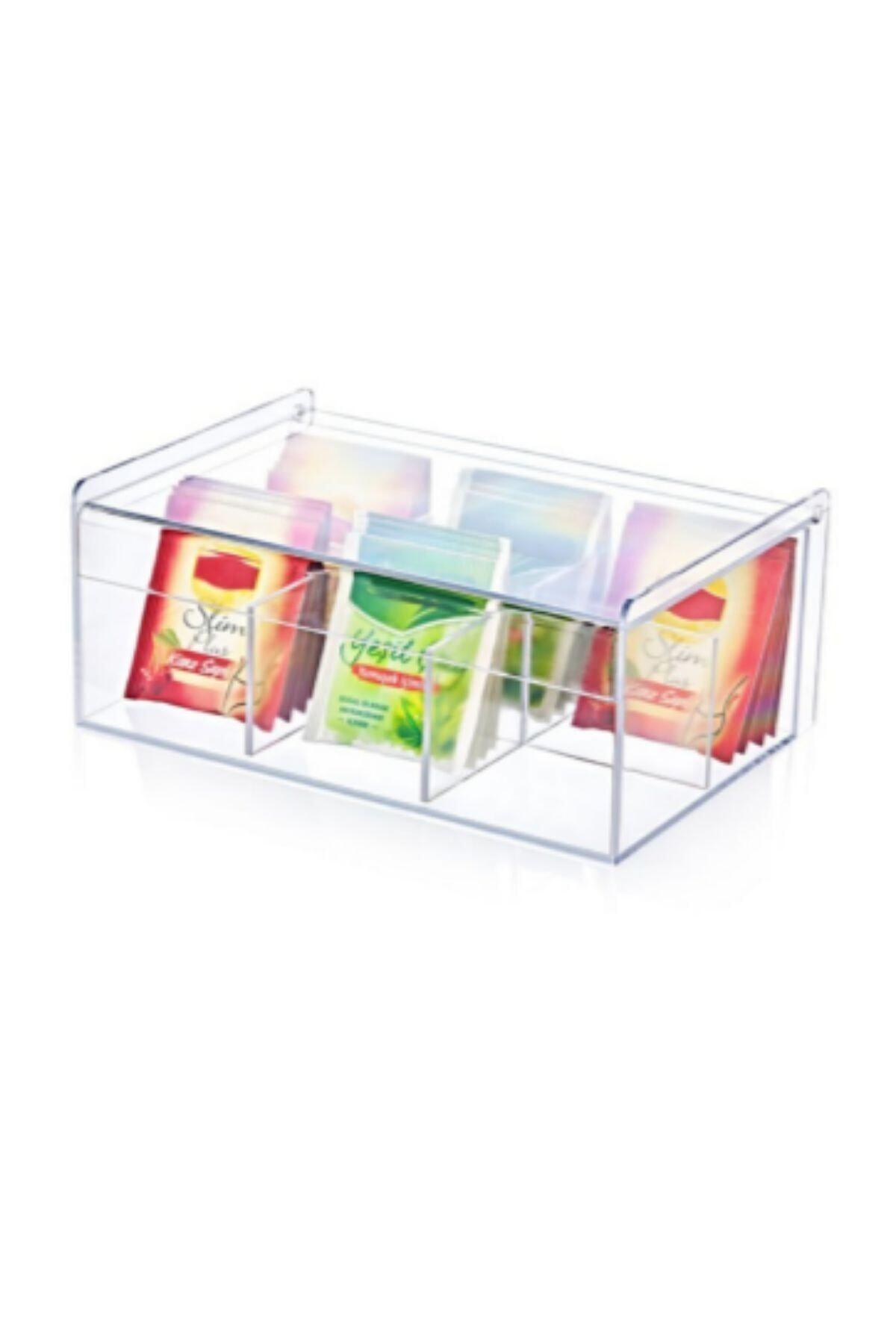 MAQYA KOZMETİK Maqya Boxup Sert Plastikli 6 Bölmeli Dikdörtgen Çay Ve Kahve Kutusu 2