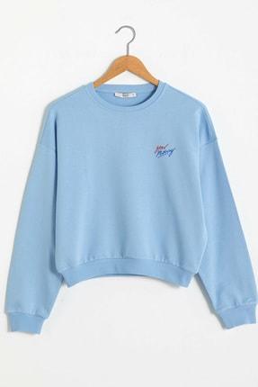 LC Waikiki Kadın Mavi  Sweatshirt XSIDE Koleksiyonu